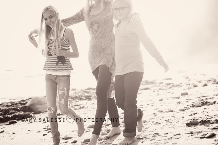 the colley/harper family at the beach