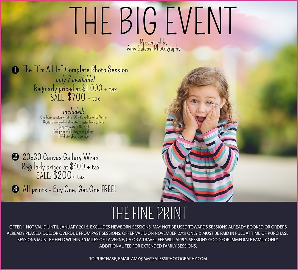 The BIG Event! {Black Friday Sale}